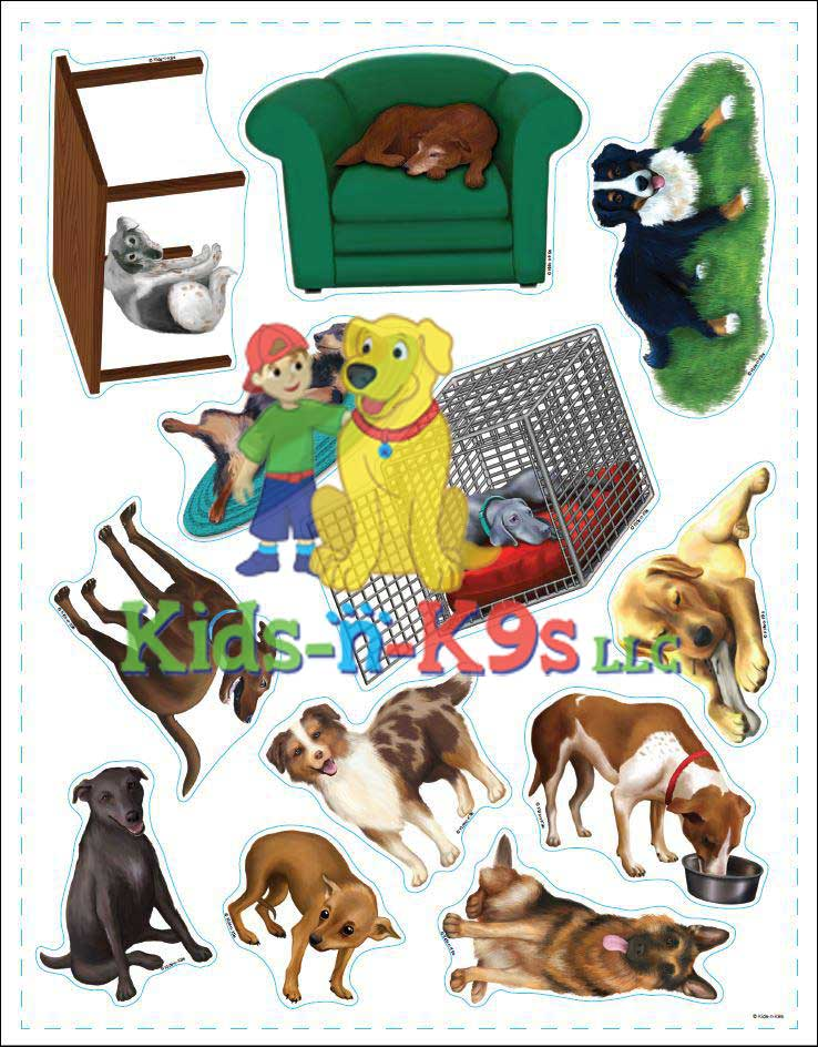 Reusable Dog Stickers