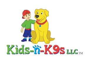 kids n k9s logo with kid and dog
