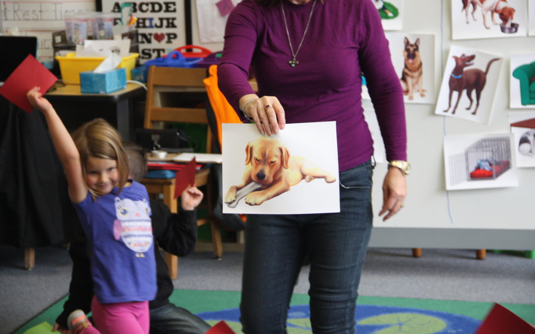Learning About Dog Body Language in Kindergarten Class